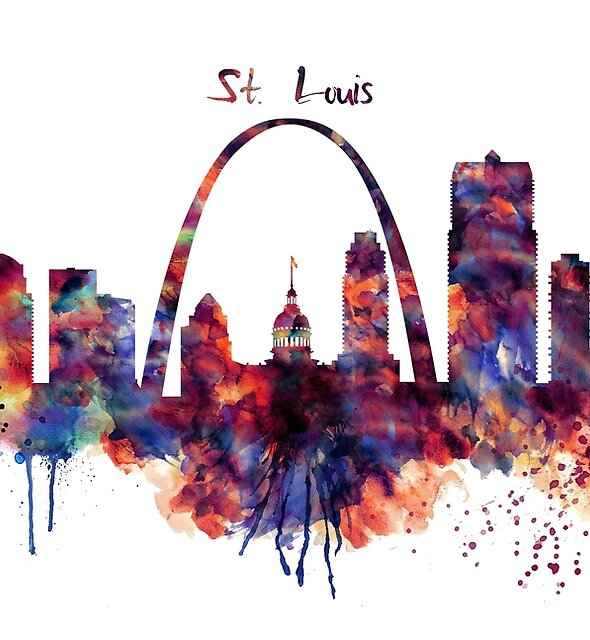 St Louis Skyline by Marian  Voicu
