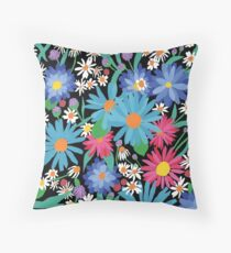 Colourful Florals Throw Pillow