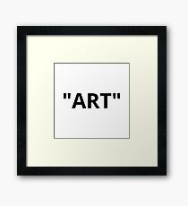 """ART"" Quotation Marks Framed Print"