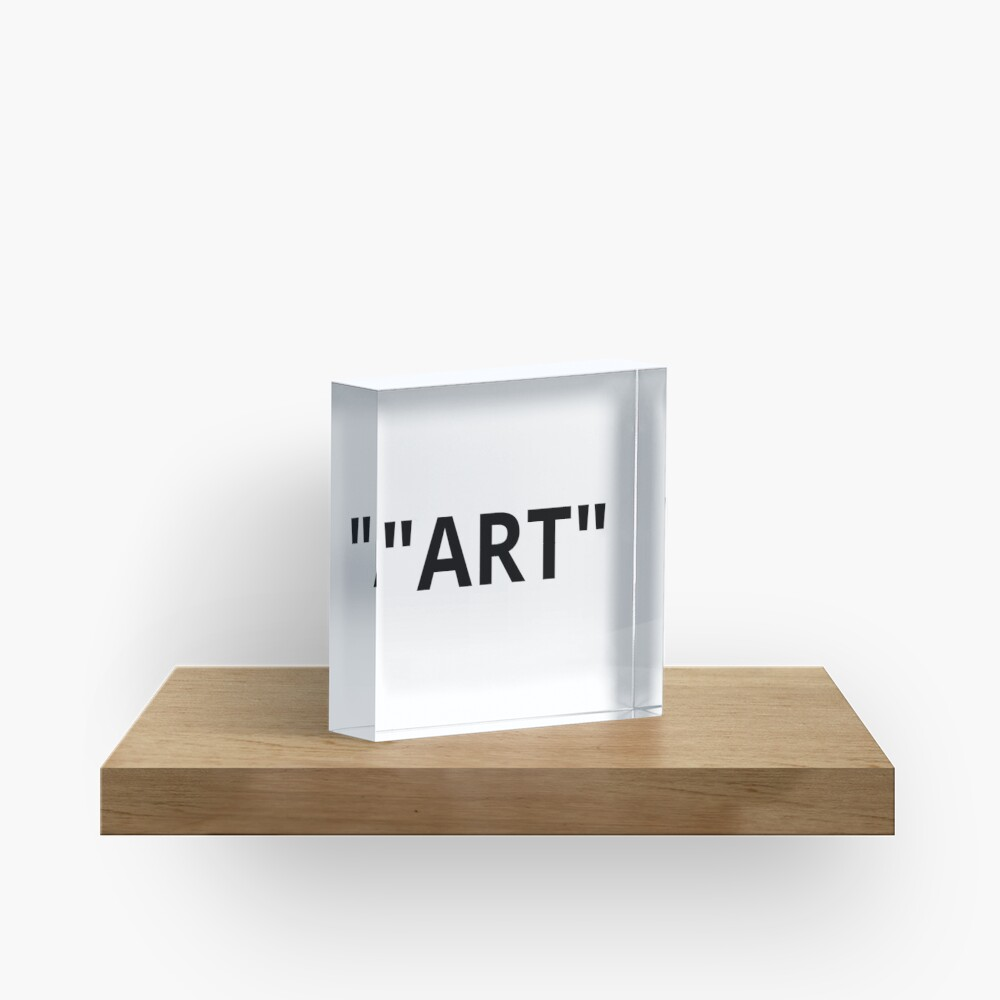 """ART"" Quotation Marks Acrylic Block"