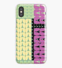 80's Stockinette Plaid iPhone Case/Skin