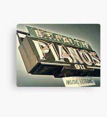 B.T.Faith Pianos Canvas Print