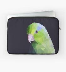Lowpoly Green Parrolet (Dark Background) Laptop Sleeve
