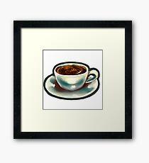 Depresso Coffee Cup Framed Print