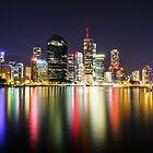 Brisbane by night by LizSB