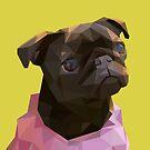 Lowpoly Nala The Pug by Mariewsart