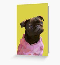 Lowpoly Nala The Pug Greeting Card