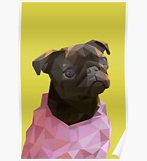 Lowpoly Nala The Pug Poster