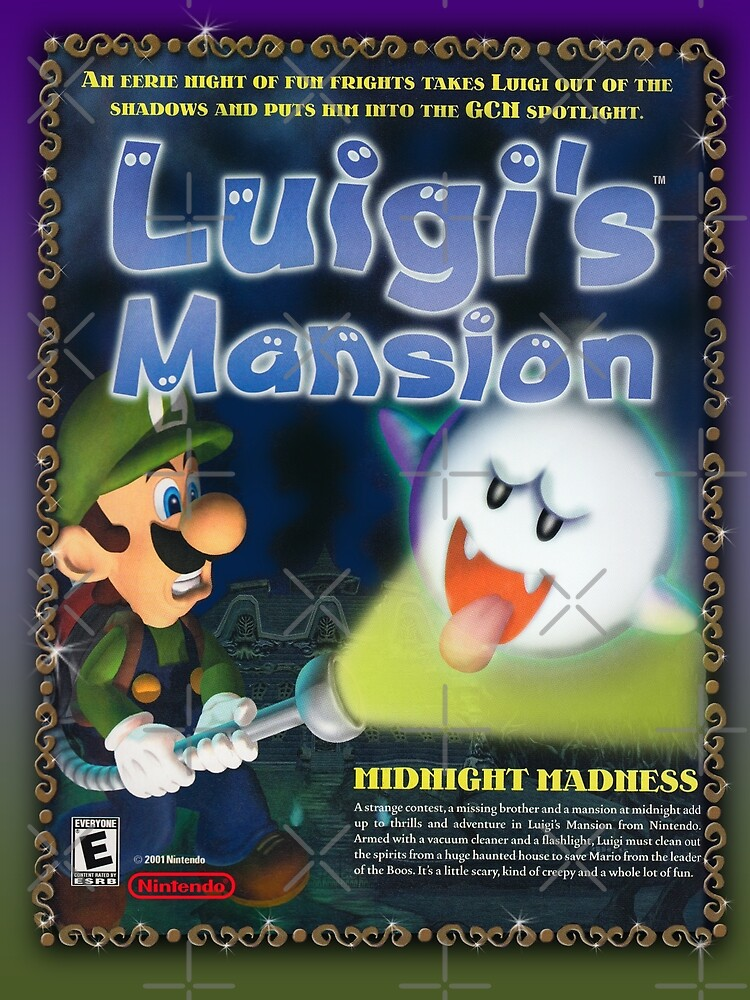 Luigis Mansion Restored Vintage Game Art By 7hunters