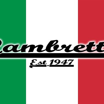 Team Lambretta on Italian Flag by ScooterStreet
