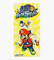 Super Mario Sunshine, Nintendo Power Retro Poster Restoration, Reprint Photographic Print