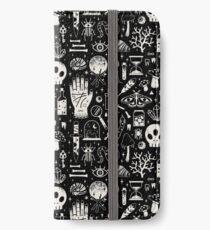 Curiosities: Bone Black iPhone Wallet/Case/Skin