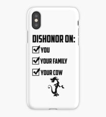 Dishonor On You iPhone Case/Skin