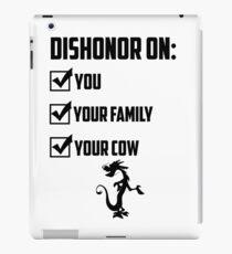 Dishonor On You iPad Case/Skin