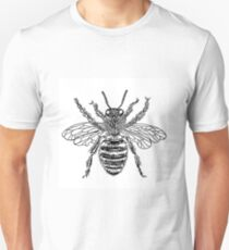 Bee line drawing Unisex T-Shirt