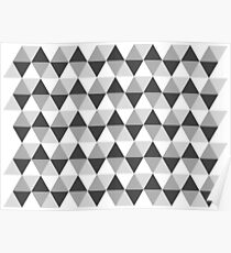 NORDIC TRIANGLE PATTERN - SHADES OF GREY 01 Poster