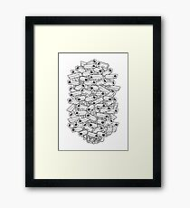 Surveillance Frenzy Framed Print