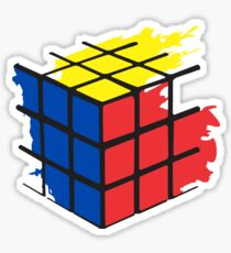 Rubik's Cube Splatter Sticker