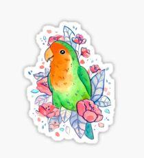 Flowery Lovebird Sticker