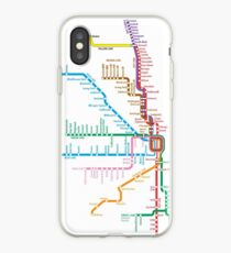 Chicago Trains Map iPhone Case