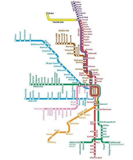 Chicago Züge Karte von Rich Anderson