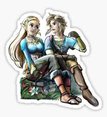 Link and Zelda Sticker