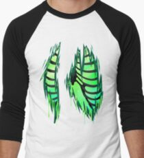 Rib cages for all -Green- Men's Baseball ¾ T-Shirt