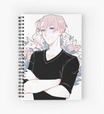 victor + flowers Spiral Notebook
