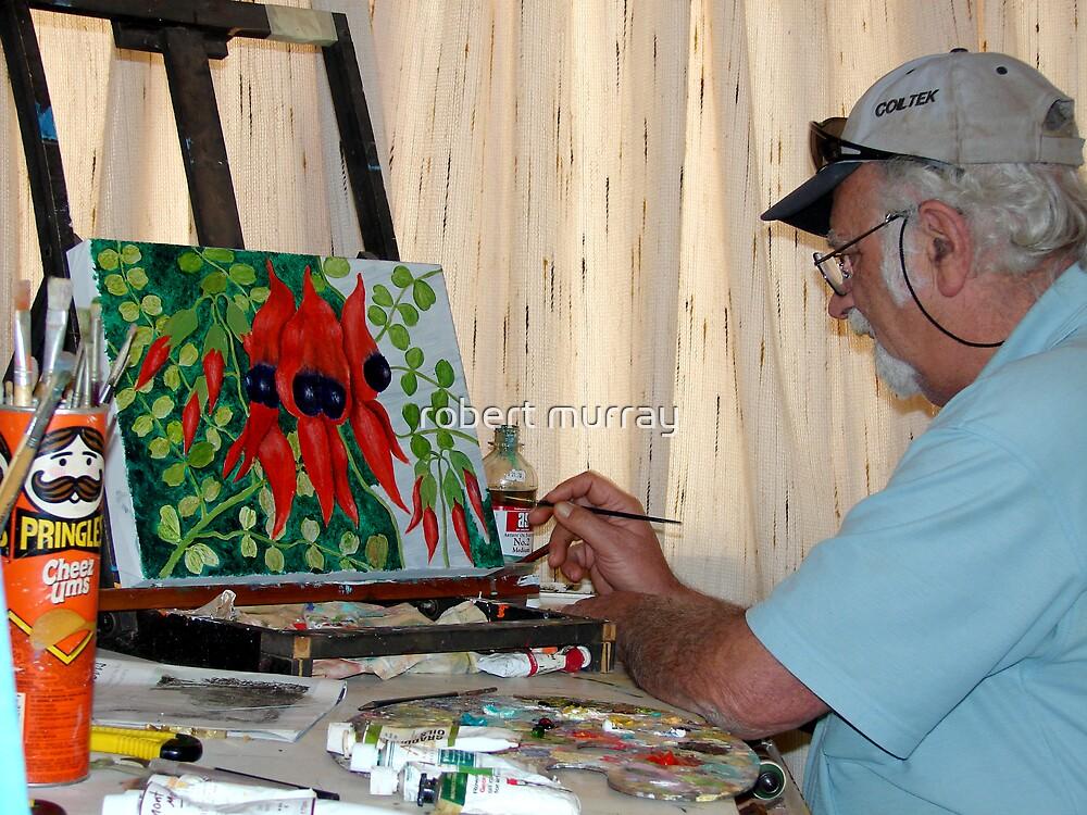 Artist at work by robert murray