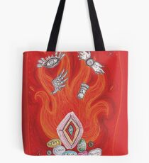 Die by the Fire, Born from the Ashes Tote Bag