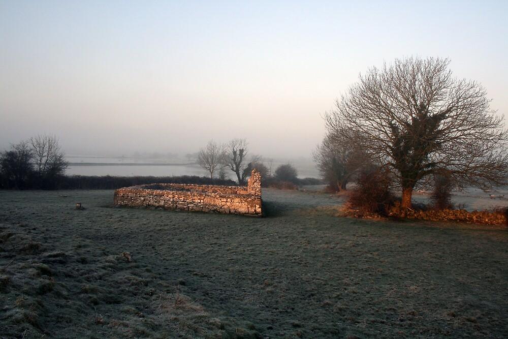 Kilmacduagh church ruins by John Quinn