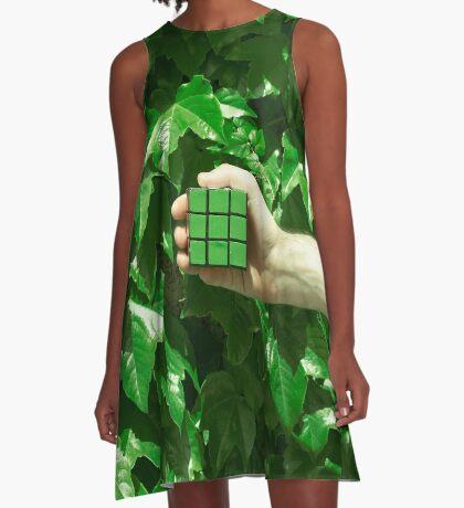 Grüne Träume A-Linien Kleid