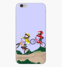 Boys competing on their BMX bikes with style iPhone Case