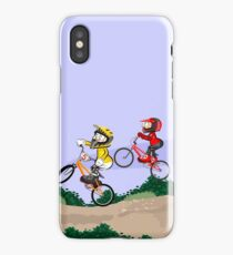 Boys competing on their BMX bikes with style iPhone Case/Skin