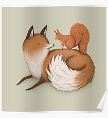 Fox & Squirrel Poster