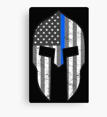 American Spartan Thin Blue Line  Canvas Print