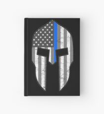 American Spartan Thin Blue Line  Hardcover Journal