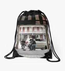 Street Performers  Drawstring Bag