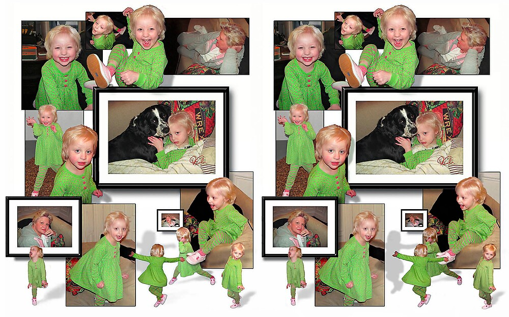 Little Girl in Green 3D by Van Cordle