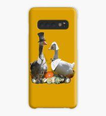 Thanksgiving Pilgrim Geese Case/Skin for Samsung Galaxy