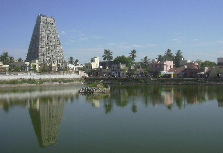 Reflection of Gopuram(Tower) by aadhityan
