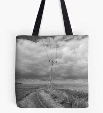 FARM LAND - BLACK AND WHITE Tote Bag