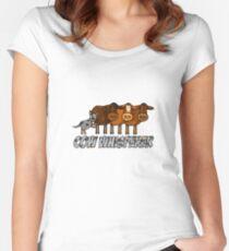 cow whisperer (herding blue heeler) Women's Fitted Scoop T-Shirt