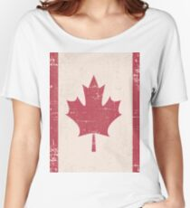 Old Grunge Flag of Canada Women's Relaxed Fit T-Shirt