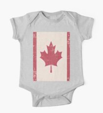 Old Grunge Flag of Canada Kids Clothes