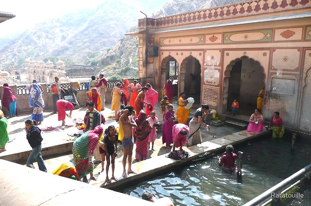 Hanuman Temple, Jaipur - Family Basin by Ratatouille