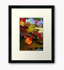 Otsoa, Grain & Roar | War Drum Framed Print