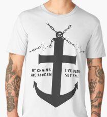 Anchored Cross (grey) Men's Premium T-Shirt