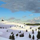 Winter landscape (I) by CatchyLittleArt