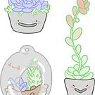 Succulent Babies Sticker Set by geothebio